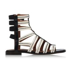 Thakoon Addition Taylor Leather Gladiator Sandal (1 885 ZAR) ❤ liked on Polyvore