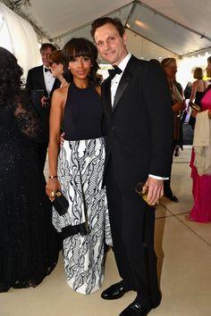 Kerri Washington and Tony Goldwyn at White House Correspondents Dinner