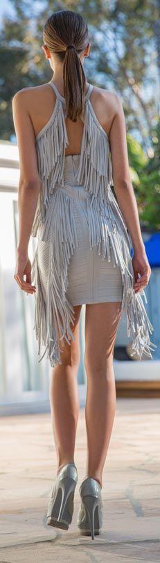 BCBG fringe back dress native tribal style Pretty Dresses, Sexy Dresses, New Look Clothes, Tribal Fashion, Womens Fashion, Look Boho Chic, Vestido Dress, Herve Leger Dress, Dress Backs