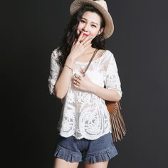 Product Name: MR2013 Crochet Lace Smock Top Click On Link To View This Product : http://gurusing.sg/shop/womens-fashion/mr2013-crochet-lace-smock-top/. We Have Publish More Products And Special Offer Are Going On Our Website GuruSing. Hurry Enjoy Up To 80% Discounts......