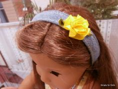 """5pc 18"""" Girl Doll Clothes Denim Shorts Top Headband Necklace Shoes American Sell 