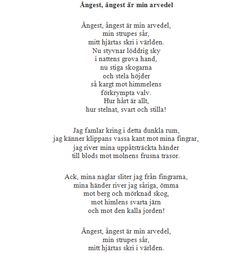 Poetry from Pär Lagerkvist
