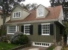 Best Sage Green House Siding Green Siding Cream Trim Black 400 x 300
