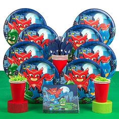 Pajama Heroes Deluxe Tableware Kit (Serves from Birthday in a Box is the perfect touch to your Pajama Heroes party Pj Mask Party Decorations, Party Themes, Party Ideas, Little Girl Birthday, Birthday Box, Birthday Ideas, Best Christmas Toys, Kids Christmas, Festa Pj Masks