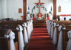 -Church wedding decorations |