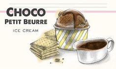 Choco Petit Beurre Ice Cream                              -                                  My Ice Cream Schokoladeglace mit Butterguetzli.