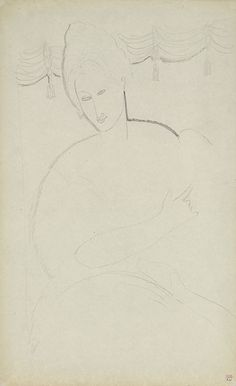Modigliani Woman with a Dog  - Verso     Pencil; stamped with the Paul Alexandre collection mark.