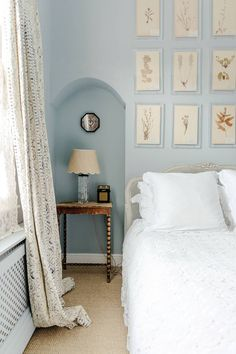 Designer Matilda Goad S Notting Hill Home Pale Blue Wallspale Bedroomsblue