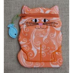 In The Hoop :: Bags, Cases, Purses & Wallets :: Cat Zipper Case - Embroidery Garden In the Hoop Machine Embroidery Designs