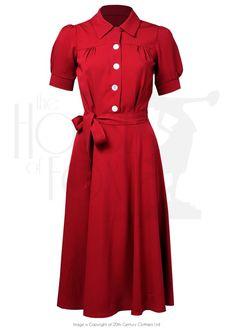 The perfect 40s Shirt Waister Dress - Red