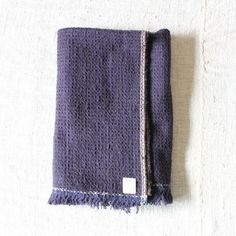 Gara-bou Blanket Stole 90×190cm Navy×Charcoal Chambray | Suno & Morrison Online Store Chambray, Product Ideas, Charcoal, Textiles, Blanket, Navy, Store, Clothes, Hale Navy
