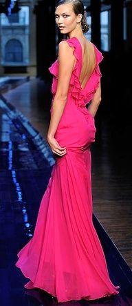 Pink ruffling dress by Jason Wu. Moda Fashion, Pink Fashion, Fashion Week, Fashion Show, Dress Fashion, Luxury Fashion, Jason Wu, Beautiful Gowns, Beautiful Outfits