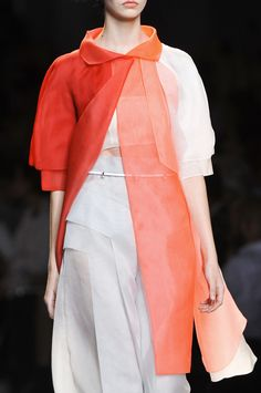 tangerine layers, dingle belt - nice - Fendi SS 2014 detail