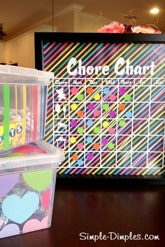 Magnetic Chore Chart Tutorial and Silhouette Freebie