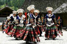 miao tribal dance | Tribal Vietnam blonde tribe Miao ethnic Hmong indigenous Bacha.