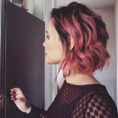 Rose Gold, ombre hair, Pink