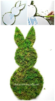 Wouldn't you love to make a whimsical mossy wall bunny to decorate your home with this spring? Here's an easy tutorial for a very inexpensive project. Wood Crafts, Diy Crafts, Dollar Tree Decor, Easter 2021, Diy Easter Decorations, Spring Has Sprung, Easter Crafts, Spring Time, Greenery