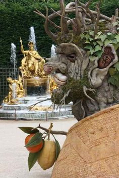 Fantastical Heads Made of Trees and Flowers Represent the Four Seasons - My Modern Metropolis Versailles. After Archimboldo.