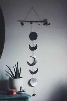 DIY Moon Phase Wall Hanging. Check it out now!