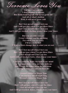 Lana Del Rey Terrence Loves You lyrics