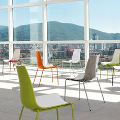 3D Colour Double Colour 4 Leg Polypropolene Chair. Choice of colours and frames.