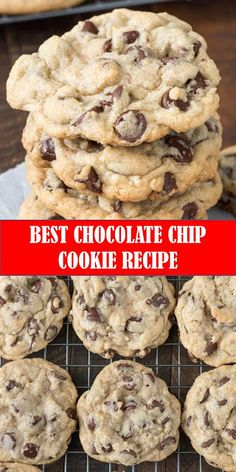 Best Chocolate Chip Cookies Recipe, Chip Cookie Recipe, Homemade Cookies, Cookie Recipes, Brownie Cookies, Fun Recipes, Cookie Ideas, Delicious Deserts, Yummy Food