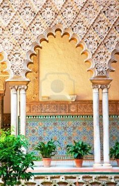 The beautiful Alcázar in the old town of Sevilla, Spain.  I love the azulejos and the Moorish arquitecture!   http://www.costatropicalevents.com/en/costa-tropical-events/andalusia/cities/seville.html