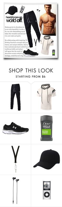 """headphones on. World off."" by sasane ❤ liked on Polyvore featuring Under Armour, Givenchy, Keds, Marshall, men's fashion and menswear"