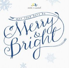 May your holidays be merry + bright!