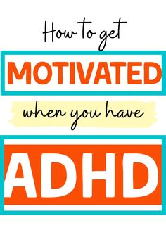 Procrastinating is one of the most challenging parts of having ADHD and getting motivated can feel impossible. But with the right ADHD strategies you can get yourself motivated. If you are an ADHD adult, don& miss these. Adhd And Autism, Adhd Kids, Adhd Inattentive Type, Adhd Facts, Adhd Quotes, Motivational Interviewing, Adhd Help, Adhd Brain, Adhd Strategies