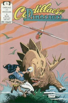 Cadillacs and Dinosaurs #6. Cover by Mark Schultz (Epic Comics, 1990)