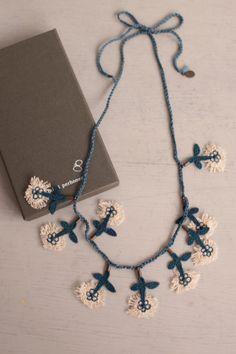 crocheted necklace | Minä Perhonen, Japan