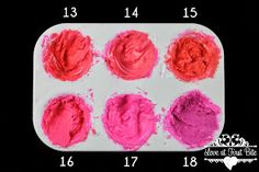 Loveatfirstbiteyork , icing color matchup, icing color shades, pink icing, color theory