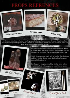 """""""Ritual"""" Visual Diary - Prop references"""