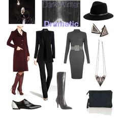 """Dark Winter Dramatic"" by thewildpapillon on Polyvore"