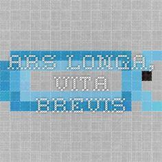 Ars longa, vita brevis - sztuka wieczna, życie krótkie
