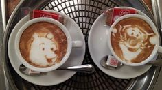 Caffeine Art -- Making a perfect coffee is a precise art in itself. But Japanese barista Kazuki Yamamoto has taken that skill one step further. Every day he whips up wonderful, whimsical images on the coffee he serves up at his cafe in Osaka.