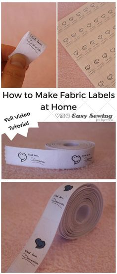 How to make fabric labels – video