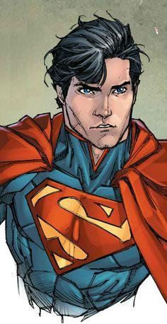 Superman by Kenneth Rocafort Superman Drawing, Superman Artwork, Superman Wallpaper, Batman Vs Superman, Comic Books Art, Comic Art, Comic Style, Superman Family, Superman Man Of Steel