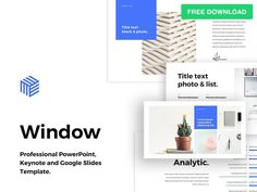 "Free PowerPoint Template ""Window"" by hislide.io"