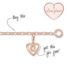 Our #THOMASSABO #ValentinesDay #special has the motto 'Love forever'. In addition to our Charm bracelet with rose gold plating, the special includes a limited-edition rose gold coloured heart Charm and a #CD with 10 of THOMAS SABO's own #love #songs.
