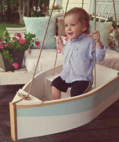 Baby boat swing