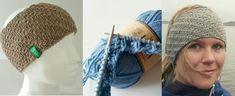 Pannebånd med vri Gratis oppskrift Handmade Crafts, Diy And Crafts, Knit Crochet, Crochet Hats, Fingerless Gloves, Arm Warmers, Winter Hats, Beanie, Barn