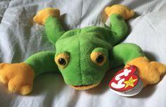ab127eb2f71 Retired Ty 1997 Smoochy the Frog Beanie Baby DOB October 1