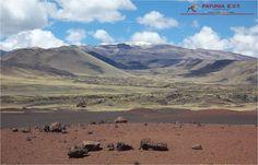 Una verdadera postal de sistemas de volcanes.