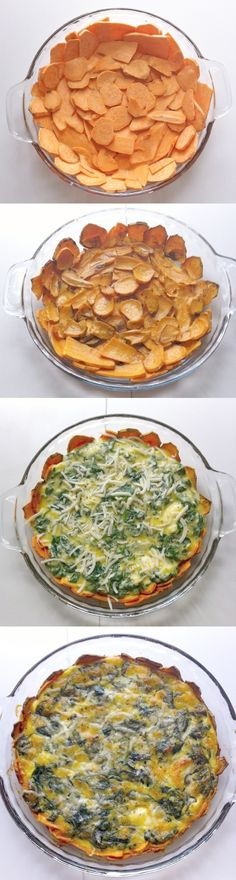 Sweet Potato Crusted Spinach Quiche!