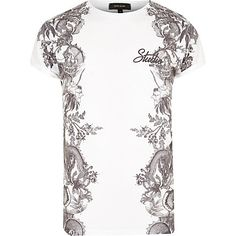 White side print t-shirt £15.00