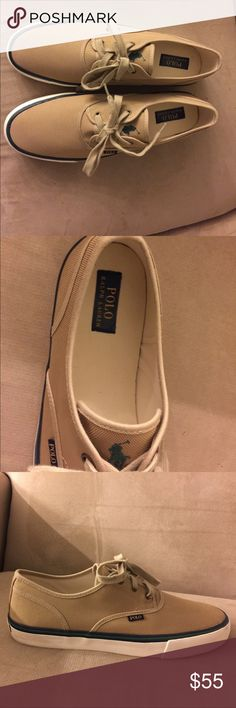 Polo Ralph Lauren man's Low Cut side 14 D Polo Morray style Brand New No Box. Textile Upper fabric Lining tanner sole.beige color, size 14 D. Polo by Ralph Lauren Shoes Sneakers