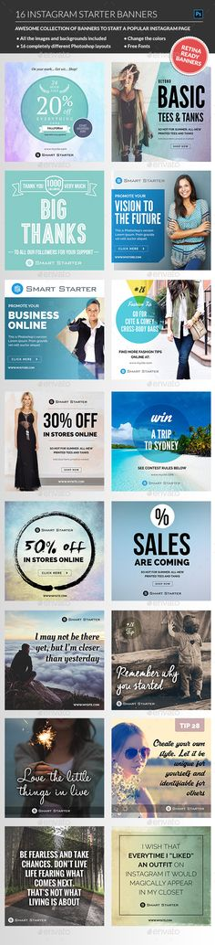 Instagram Banners Package Templates #design Download: http://graphicriver.net/item/instagram-banners-package/12643827?ref=ksioks