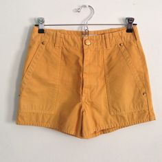 Scottie shorts Never worn (gifted)   high waisted shorts   mustard seed color  size is 27 but fits a 24 or 25 J. Crew Shorts